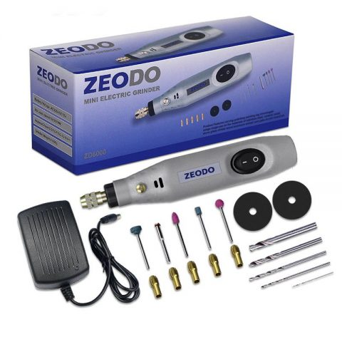 Zeodo Mini Drill Cordless Rotary Tool With Grinding Accessories Set